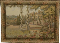 Terrace at Lake Como tapestry - Italian wall tapestries