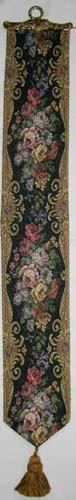 Blue Floral bellpull - French tapestry bellpulls