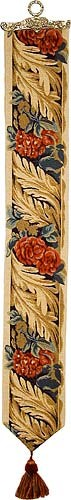 Acanthus and Roses bellpull - French tapestry bellpulls