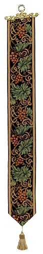 Grapes on a Vine bellpull - French tapestry bellpulls