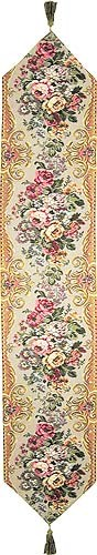 Traditional Bouquet table runner - French tapestry runners