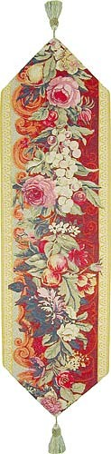 Floral French table runner - tapestry runners