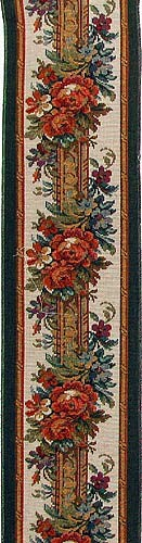 Climbing Roses border - woven in Italy