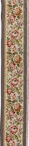 Pink Roses tapestry border - edging on area rugs