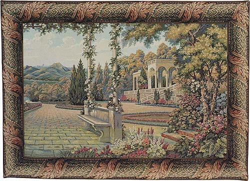 Terrace at Lake Como - Italian wall tapestries