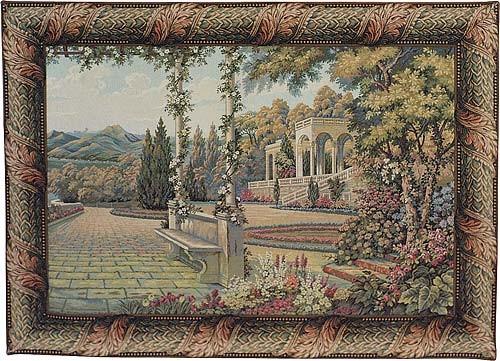 Terrace at Lake Como - Italian wall tapestries
