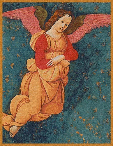 Angel from the Figline Altarpiece - Belgian tapestry wallhanging