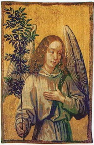 Archangel tapestry - angel wall tapestries