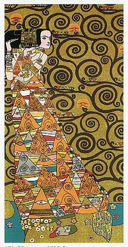 Klimt The Waiting - left - Art Nouveau tapestries