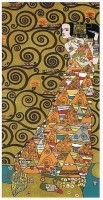 Klimt The Waiting - right - Art Nouveau wall tapestries