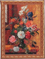 Summer Flowers Bouquet - Belgian tapestry wall-hanging