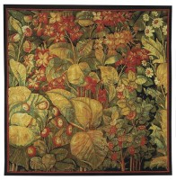 Fiori tapestry wallhanging - flowers and leaves