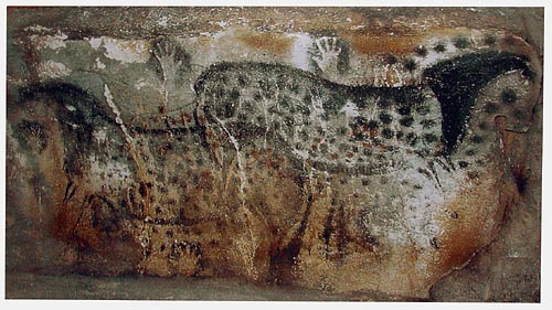 Ancient art, cave paintings tapestries