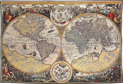Nautical and Maps tapestries