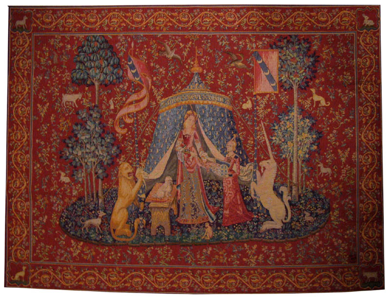 Large medieval tapestries