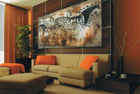 Ancient art tapestries - cave paintings wall art