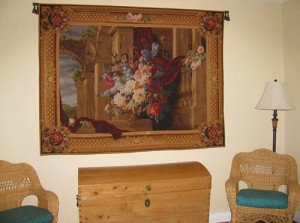 Floral bouquet tapestries - flower tapestry wall-hangings