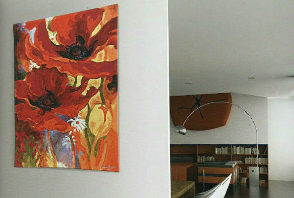 Contemporary tapestry wallhangings - fine art, floral, landscapes