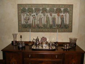 Medieval wallhanging tapestry art - La Manta, Nine Worthies tapestries