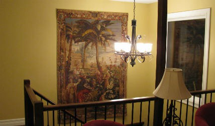 Landscapes tapestries - town and country tapestry wall-hangings