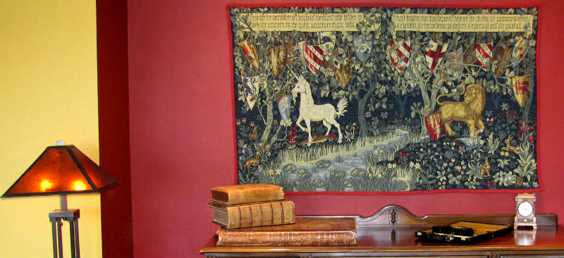 William Morris tapestries - Arts and Crafts tapestry wall-hangings