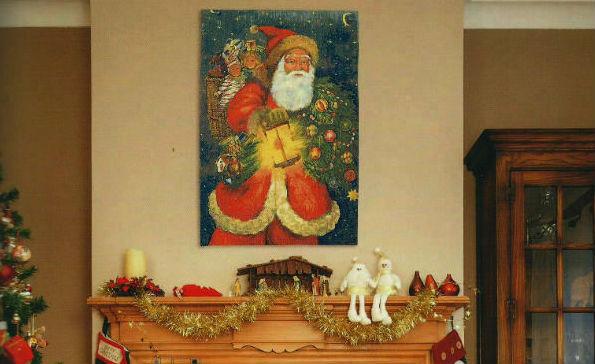 Santa Claus wall tapestry - Father Christmas wall-hanging