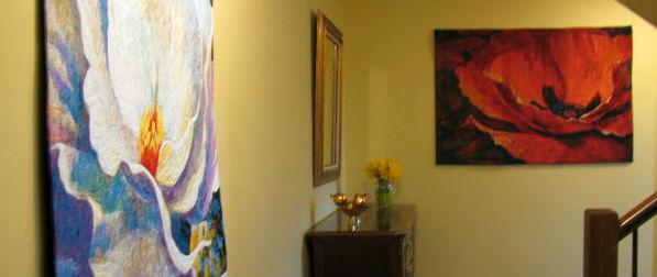 Wonderful new floral tapestries - Simon Bull tapestry art designs