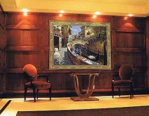 Town scenes tapestries - urban tapestry wall-hangings