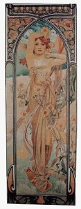 Mucha Times of the Day tapestries - Brightness of Day