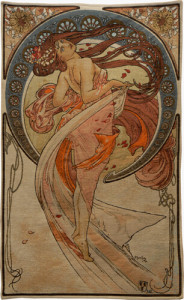 Dance tapestry by Alphonse Mucha