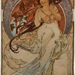Music tapestry by Alphonse Mucha