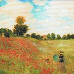 Monet Poppies in a Field tapestry