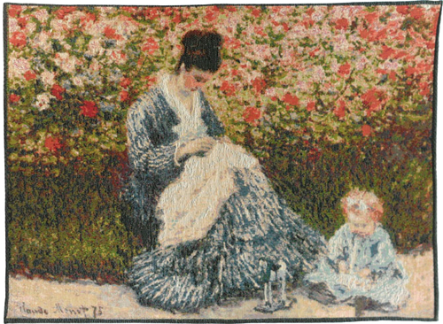 Camille and a Child in the Garden - Monet tapestries