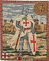 The Knight Templar tapestry - medieval tapestries