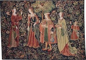 Promenade tapestry - La tenture de la Vie Seigneuriale tapestries