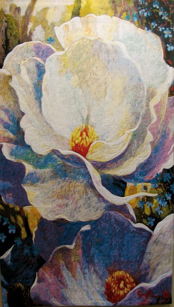 Morning Song tapestry by Simon Bull