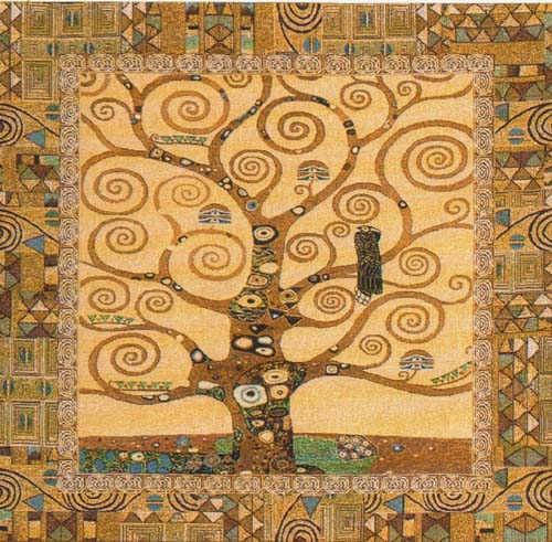 A Klimt Tree of Life tapestry - Gustav Klimt wall tapestries