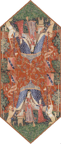 A Mon Seul Desir table runner - Lady with the Unicorn