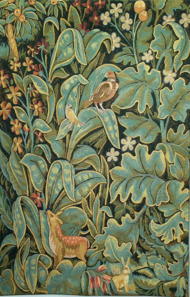 Aristoloches wall tapestry - Belgian verdure tapestries