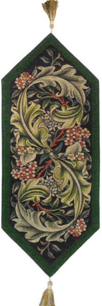 Green Morris table runner - Arts and Crafts tapestries
