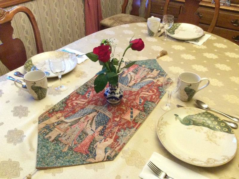 Lady with the Unicorn table runner