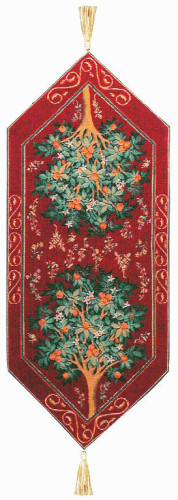 Short Orange Tree table runner - French table runners