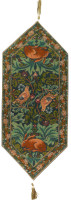Rabbits and Birds table runner - William Morris designs