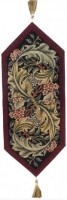Burgundy Morris table runner - French table runners