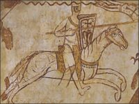 Tempelier tapestry - jousting tournament knight