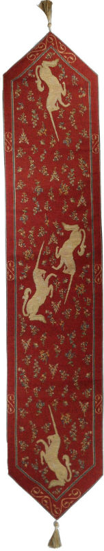 Unicorn table runner - French tapestry table runners