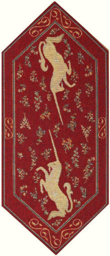 Short Unicorns table runner - Lady with the Unicorn table runners