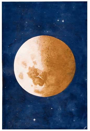 The Moon wall tapestry - Lune Belgian wall-hanging - Luna