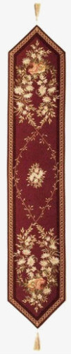 Aubusson table runner - woven in France