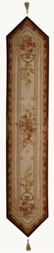 Chaumont table runner - French table runners - wool and cotton